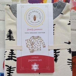NEW Burts Bees Baby Tree Print Infant Pajama Set